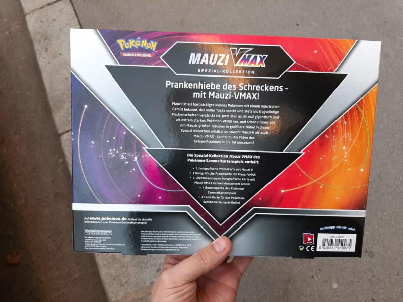 Pokemon - Mauzi VMAX Spezial Kollektion - Rückseite