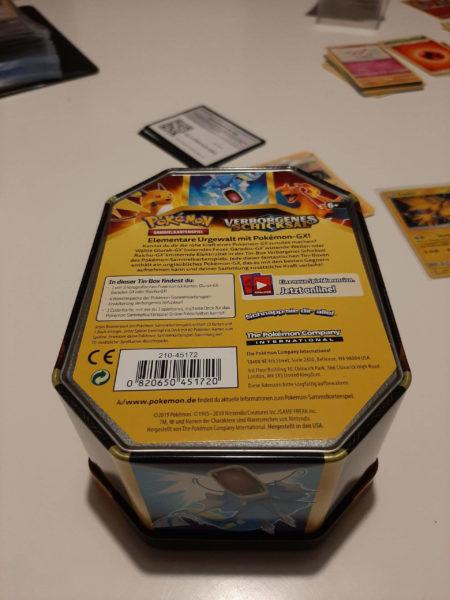 Raichu Verborgenes Schicksal Tin Box Rückseite